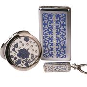 梵圣 奢侈品牌 手机 聚合物充电宝移动电源 通用 u盘套装 创意礼品 女 生日礼物 女生女友 6000mAh 16D-2.0