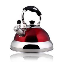 仁品 鸣笛加厚不锈钢烧水壶 煤气电磁炉琴音开水壶 4L B050 4L雅典红产品图片主图