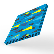 Lessmore 迷你饼干超薄3D色彩移动电源2600毫安 立体蓝 黄