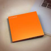 Lessmore 迷你饼干超薄3D色彩移动电源2600毫安 橘色