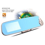 怡佳人 空气净化器后视镜行车记录仪一体机 1200w像素 4.3寸高清屏 车载负离子净化器 银色 8G内存卡