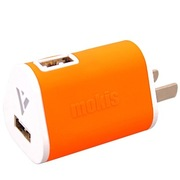 摩奇思 1.5A双USB口旅行充电器 橙色