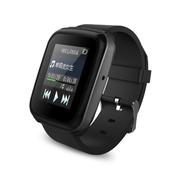 IQQ 适用于智能蓝牙手表防盗计步器智能穿戴设备蓝牙手表 黑色 黑色