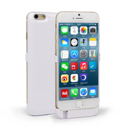 SENBOWE 苹果6背夹式电池 移动电源 备用充电宝 iPhone6 5.5英寸手机壳 白色5.5寸