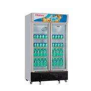 海尔 SC-650G 650升商用展示柜立式风冷冷柜玻璃门双门对开冰柜
