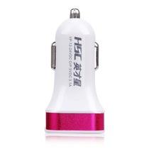 英才星 车载点烟器充电器3.1A带双USB万能充YC-15 黑红产品图片主图