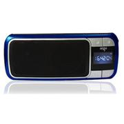 aigo F066插卡音箱便携式数码迷你小音响 FM调频收音机晨练送老人 深蓝色 官方标配+送充电器