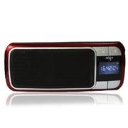 aigo F066插卡音箱便携式数码迷你小音响 FM调频收音机晨练送老人 红色 标配+8G卡+充电器+读卡器