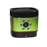 唯赛思通 户外蓝牙音箱低音炮 便携家庭监控防盗器 行车记录仪 绿色 16G内存卡