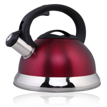 仁品 不锈钢烧水壶 鸣音壶 防烫烧水壶 煤气电磁炉通用 4L 红色产品图片主图