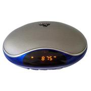 aigo F033小音箱 FM便携式迷你音响 Mp3音乐播放器 可插卡或U盘播放 宝石蓝 标配+8G卡+充电器+读卡器
