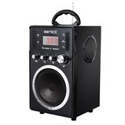 硕美科 声丽S8 强磁低音炮音箱 FM收音机 可插SD卡/U盘音响  黑色