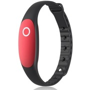 bong 2 智能手环睡眠监测运动防水计步器待机一年蓝牙可穿戴设备腕带 丹红色