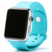 美创 苹果iphone6 plus智能手环蓝牙免提通话手表健康管理来电显示 浅蓝色