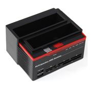 优胜仕 USAMS 硬盘拷贝刻录USB高速2.5/3.5寸通用串口单双盘位SATA硬盘座 硬朗双插