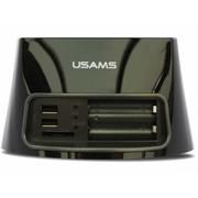 优胜仕 USAMS 硬盘拷贝刻录USB高速2.5/3.5寸通用串口单双盘位SATA硬盘座 黑色单排
