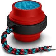 飞利浦 BT2000R 蓝牙无线 伸缩便携智能苹果音箱音响 小巧方便 大品牌功能 外观不错 (赤幻红)