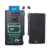 HNM 单8寸/12寸广场舞音箱 拉杆音箱 户外音响 手拉式音响音箱 一体机 1102TV带显示屏+DVD  双领夹