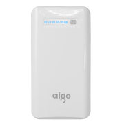 aigo 移动电源K130充电宝12500毫安K150爱国者电子手机平板通用15000毫安 K150白色(15000毫安) 官方标配+三合一充电线