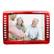 金正 视频机播放器EVD17 18英寸高清看戏机扩音器带DVD老人唱戏机带电视音响 广场舞音 红色 标配无卡