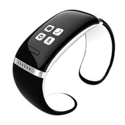 爱随 W9智能手镯手环触屏智能蓝牙腕表运动穿戴设备免提通话安卓伴侣低辐射 白色