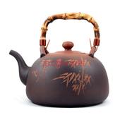 其他 【仟古堂】台湾老岩泥手工陶茶壶烧水壶壶煮茶壶泡茶烧茶壶功夫茶壶电茶壶