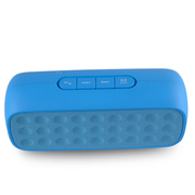 SENBOWE 无线蓝牙音箱电脑手机迷你便携音响低音炮插卡收音机 360环绕声 免提通话 蓝色