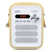 艾米尼 迷你手提便携式 无线蓝牙音箱 低音炮 插卡收音机 老人广场舞音响 卡其色普通版