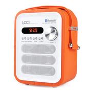 艾米尼 迷你手提便携式 无线蓝牙音箱 低音炮 插卡收音机 老人广场舞音响 橙色蓝牙版