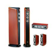 山水 Sansui/ EX-6音响家庭影院5.1声道电脑电视低音炮 实木音箱五件套装音响 酒红色