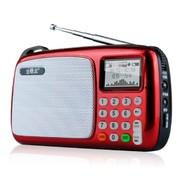 锋立 T303中文屏迷你音响便携式插卡收音机老人mp3播放器小音箱 可乐红