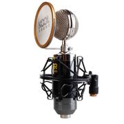 KOOL 麦克风 有线 电容麦克风 电脑K歌话筒 小奶瓶yy录音设备 黑色