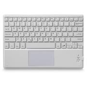 航世 超薄无线蓝牙键盘带触摸板鼠标功能 适用于平板 笔记本 台式电脑 白色
