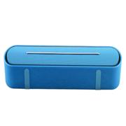 喜木 蓝牙音箱 无线音响 笔记本电脑小音箱 插卡U盘扩音器收音机 迷你车载音乐播放器 蓝色