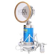 Capshi 专业电容K歌唱吧电脑麦克风 BM-v668 麦克风 蓝色