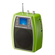WSHDZ 山禾扩音器 教学腰挂插u盘 无线遥控大功率 多功能唱戏机 绿色