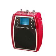 WSHDZ 山禾扩音器 教学腰挂插u盘 无线遥控大功率 多功能唱戏机 红色