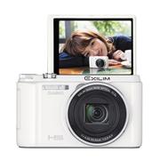 卡西欧 ZR1500 数码相机 1610万像素 12.5倍光学变焦 白色
