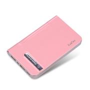 leik 正品超薄锂聚合物电池移动电源7500毫安苹果4s5s充电宝手机通用移动充电宝移动充 粉红色