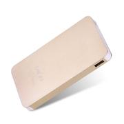 leik 正品手机超薄锂聚合物电池移动电源7500毫安苹果三星小米5s移动充电宝通用冲电宝 香槟色