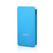 leik 正品超薄聚合物移动电源5000毫安苹果5s充电宝手机电池通用移动充电宝大容量移动充 天蓝色