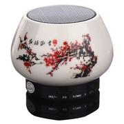 智瓷 创意迷你陶瓷无线音响 免提通话插卡可接手机电脑 蓝牙音响 红梅傲雪