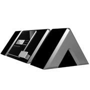 沙巴 蓝牙音箱 苹果/安卓手机底座蓝牙音响 桌面闹钟低音炮 立体声无线木工大音箱 银黑