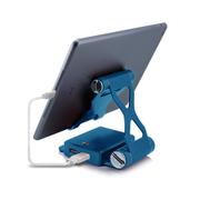 依波特 10400毫安聚合物支架移动电源 苹果小米手机通用轻薄充电宝 深海蓝