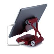 依波特 10400毫安聚合物支架移动电源 苹果小米手机通用轻薄充电宝 烈焰红