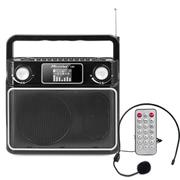 酷道 广场机音响音箱收音机8W扩音器唱戏机老年人舞音箱录音MP3播放器 黑色