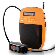 WSHDZ 山禾小蜜蜂扩音器 无线扩音 教师专用耳麦扩音器教学腰挂 活力橙