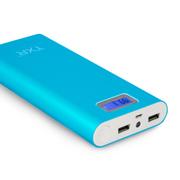 TXR 83冲电宝5s 三星苹果小米手机充电宝通用20000毫安移动电源20000移动充电器 碧海蓝 标准配置