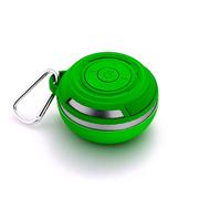 艾米尼 便携式蓝牙音箱 挂扣户外音响 收音机插卡音箱迷你低音炮 绿色
