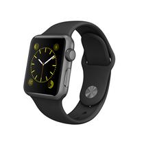 苹果 Apple Watch 智能手表(黑色/38毫米表壳/运动型表带)产品图片主图